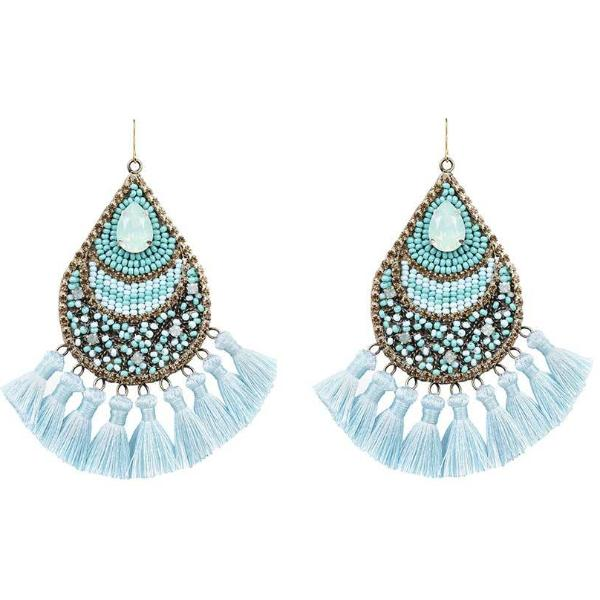 Deepa by Deepa Gurnani Handmade Arlette Earrings in Turquoise