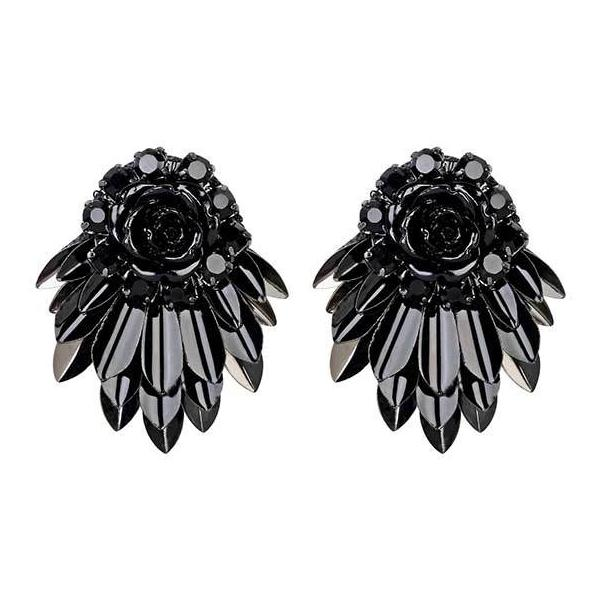 Deepa by Deepa Gurnani Handmade Black Cylee Earrings
