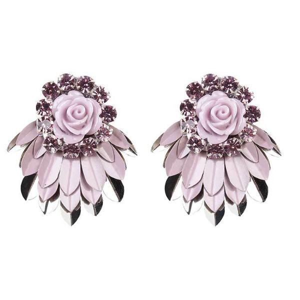 Deepa by Deepa Gurnani Handmade Lavender Cylee Earrings