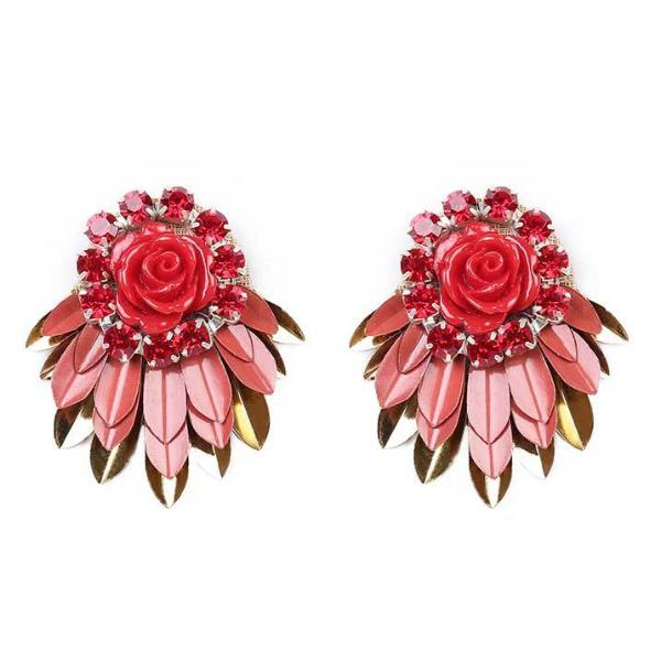 Deepa by Deepa Gurnani Handmade Red Cylee Earrings