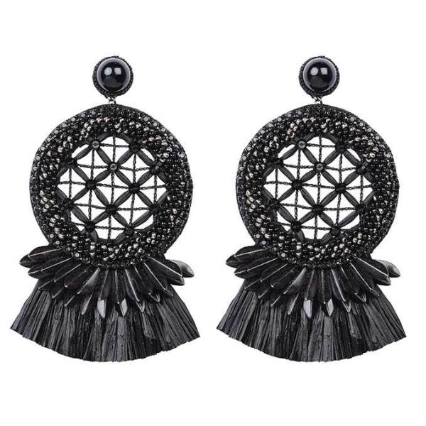 Deepa by Deepa Gurnani Handmade Daleah Earrings in Black