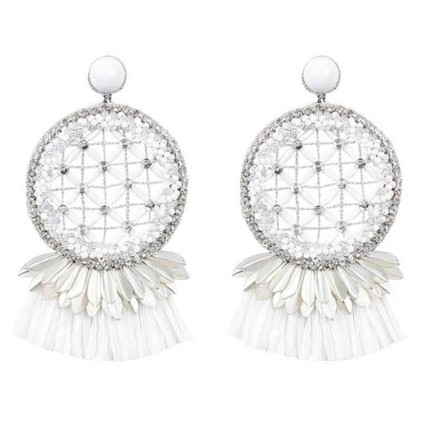 Deepa by Deepa Gurnani Handmade Daleah Earrings in White
