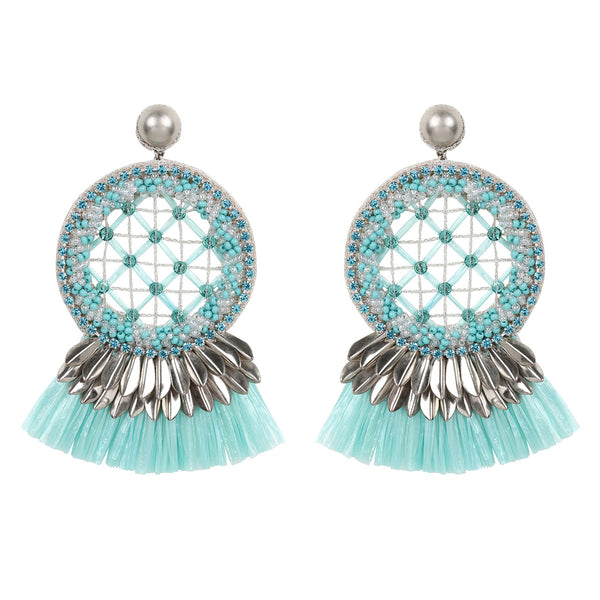 Deepa by Deepa Gurnani Handmade Daleah Earrings in Mint