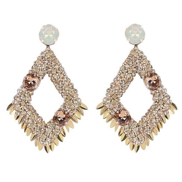 Deepa by Deepa Gurnani Handmade Gold Christi Earrings