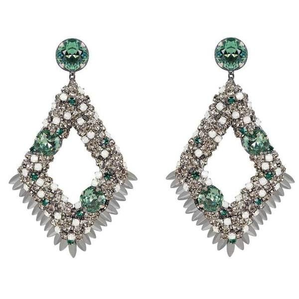 Deepa by Deepa Gurnani Handmade Gunmetal Christi Earrings