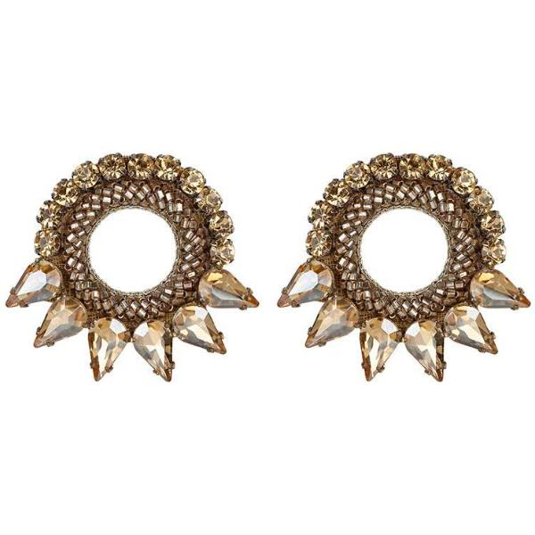 Deepa by Deepa Gurnani Handmade Gold Color Valencia Earrings
