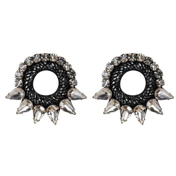 Deepa by Deepa Gurnani Handmade Gunmetal Valencia Earrings