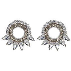 Deepa by Deepa Gurnani Handmade Silver Color Valencia Earrings