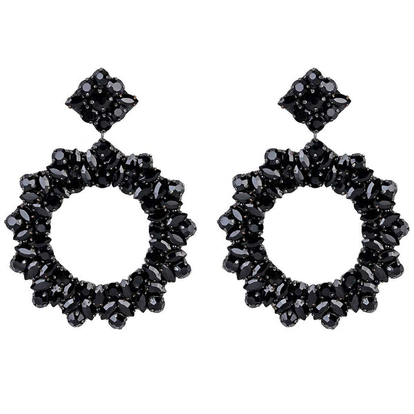 Deepa by Deepa Gurnani Handmade Lightweight Black Color Amora Earrings