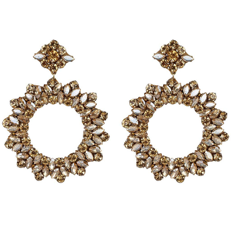 Deepa by Deepa Gurnani Handmade Lightweight Gold Color Amora Earrings
