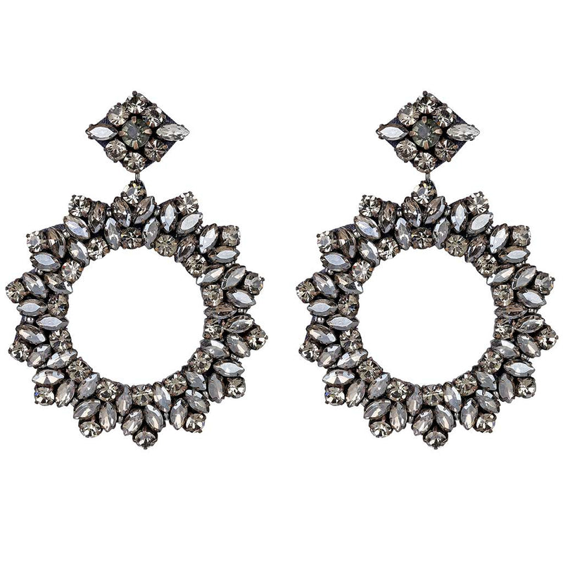 Deepa by Deepa Gurnani Handmade Lightweight Gunmetal Color Amora Earrings
