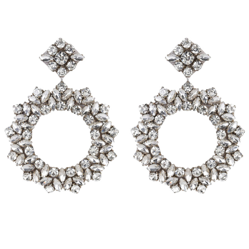 Deepa by Deepa Gurnani Handmade Lightweight Silver Color Amora Earrings