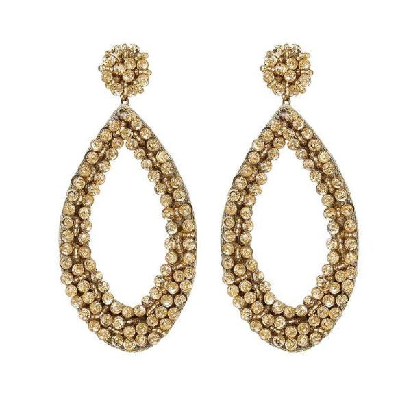 Deepa by Deepa Gurnani Handmade Capri Earrings in Gold