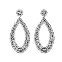 Deepa by Deepa Gurnani Handmade Capri Earrings in Silver