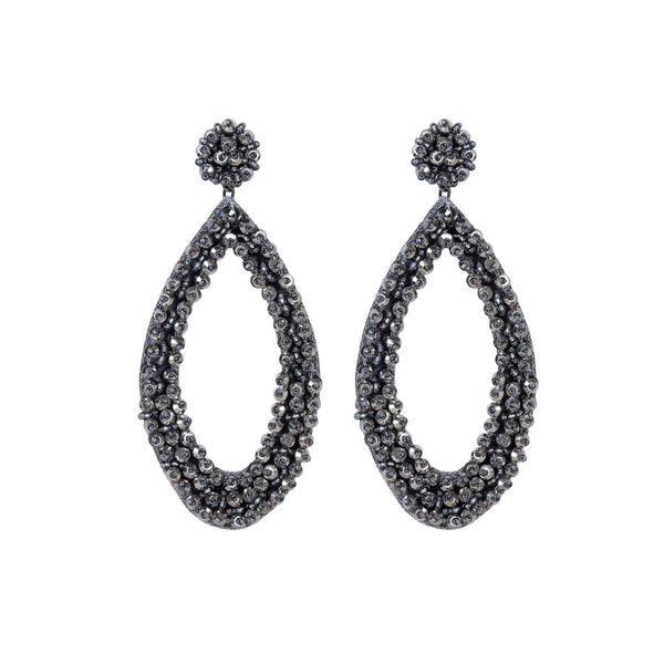 Deepa by Deepa Gurnani Robyn Tear Drop Earrings Gun