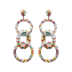 Deepa by Deepa Gurnani Handmade Haidyn Earrings in Multicolor