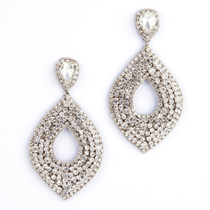 Deepa by Deepa Gurnani Handmade Silver Cedani Earrings
