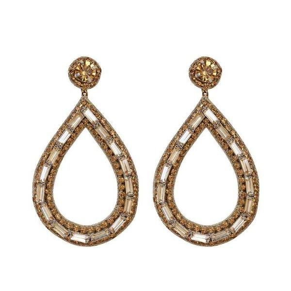 Deepa by Deepa Gurnani Handmade Gold Ayesha Earrings