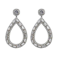 Deepa by Deepa Gurnani Handmade Silver Ayesha Earrings