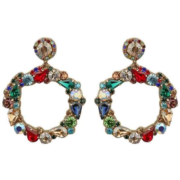 Deepa by Deepa Gurnani Handmade Multicolor Hazelyn Earrings