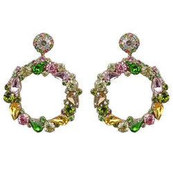 Deepa by Deepa Gurnani Handmade Green Hazelyn Earrings