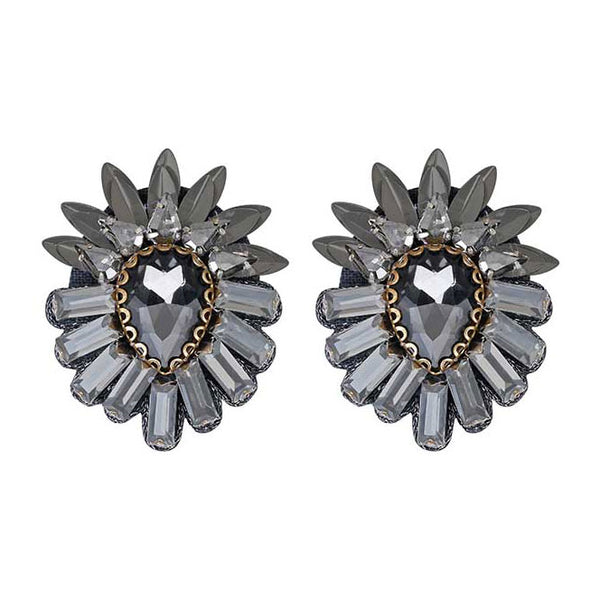 Deepa by Deepa Gurnani Handmade Aryanna Clip-On in Gunmetal
