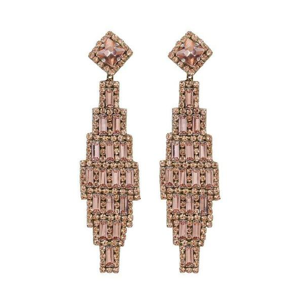 Deepa by Deepa Gurnani Handmade Rose Gold Milana Earrings