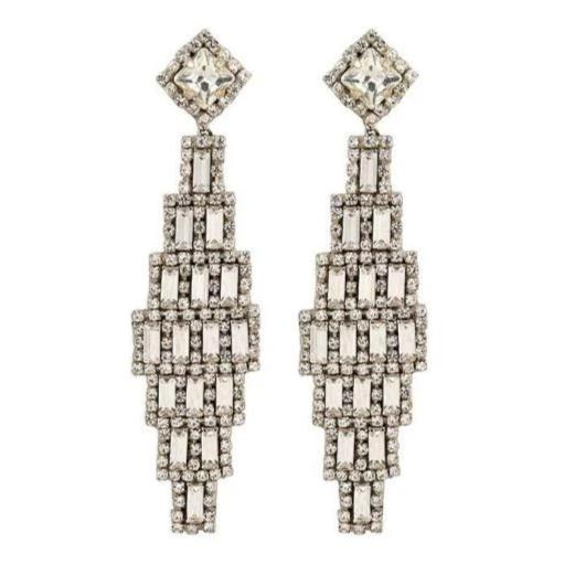 Deepa by Deepa Gurnani Handmade Silver Milana Earrings