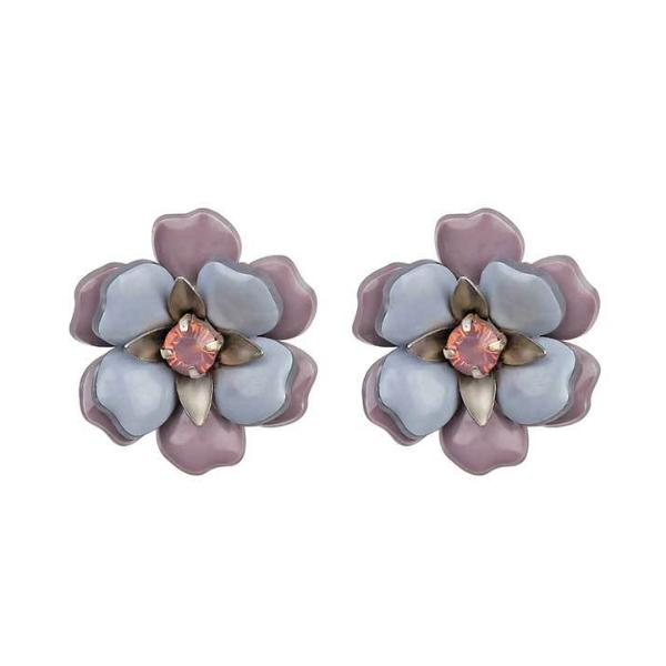 Deepa by Deepa Gurnani Handmade Lavender Fiora Earrings