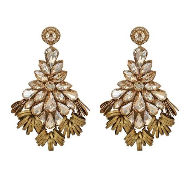 Deepa by Deepa Gurnani Handmade Romina Earrings in Gold