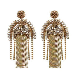 Deepa by Deepa Gurnani Handmade Gold Color Paulette Earrings