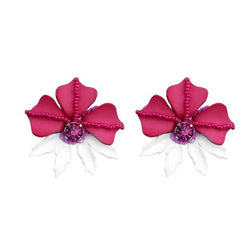 Deepa by Deepa Gurnani Handmade Fuchsia Rafela Earrings
