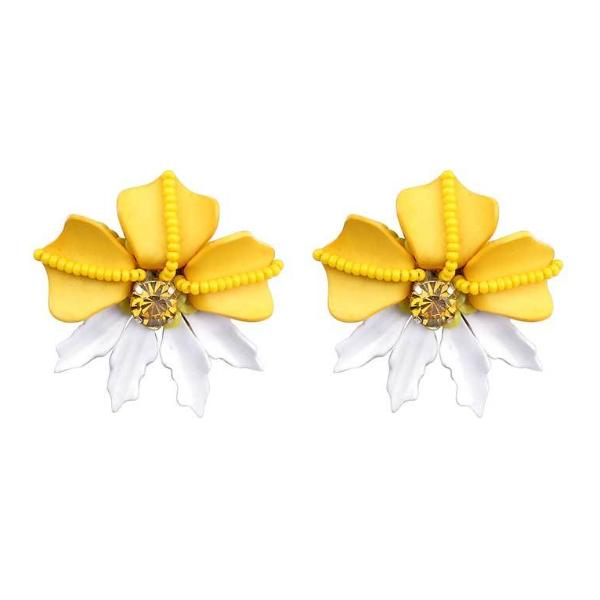 Deepa by Deepa Gurnani Handmade Yellow Rafela Earrings