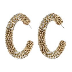 Deepa by Deepa Gurnani Handmade Lana Hoop Earrings Gold