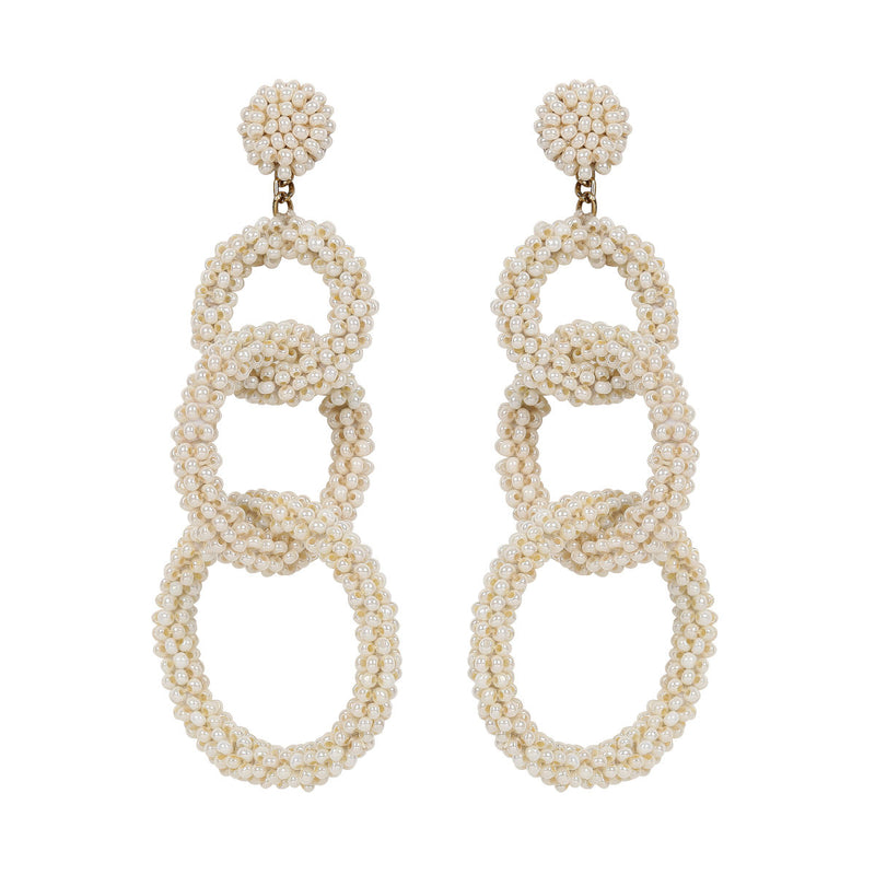 Deepa by Deepa Gurnani Handmade Ember Earrings in Pearl