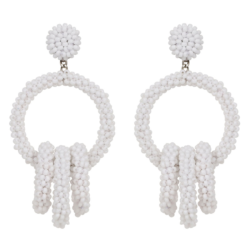 Deepa by Deepa Gurnani Handmade Karlee Earrings in White