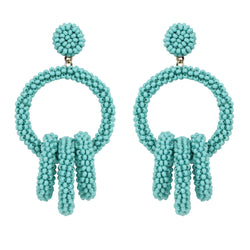 Deepa by Deepa Gurnani Handmade Karlee Earrings in Turquoise