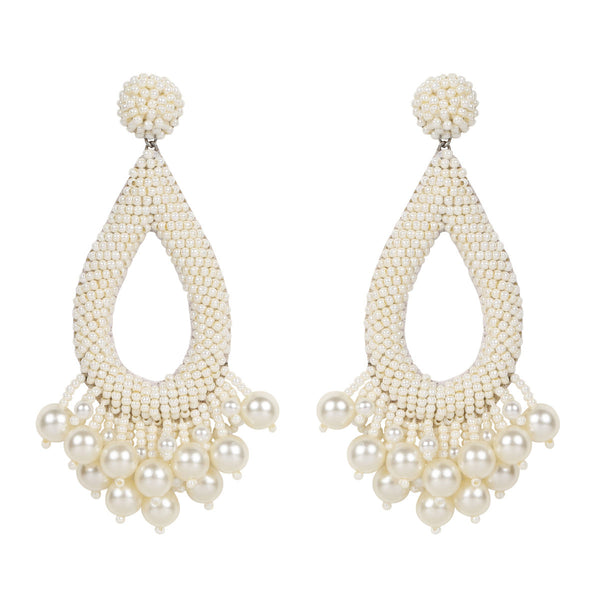Deepa by Deepa Gurnani Handmade Kacey Earrings in Ivory