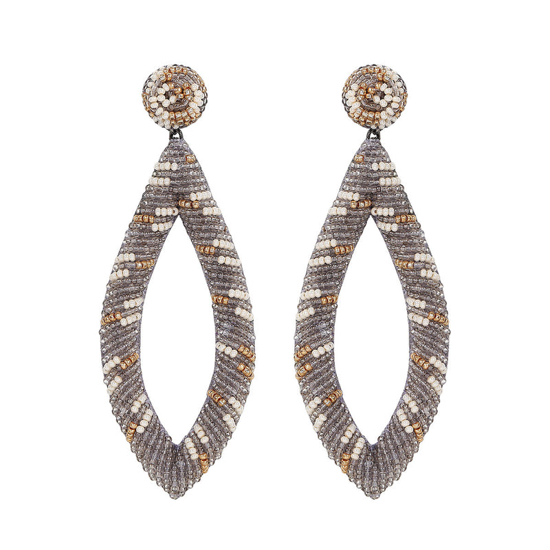 Deepa by Deepa Gurnani Handmade Jayla Earrings in Gray