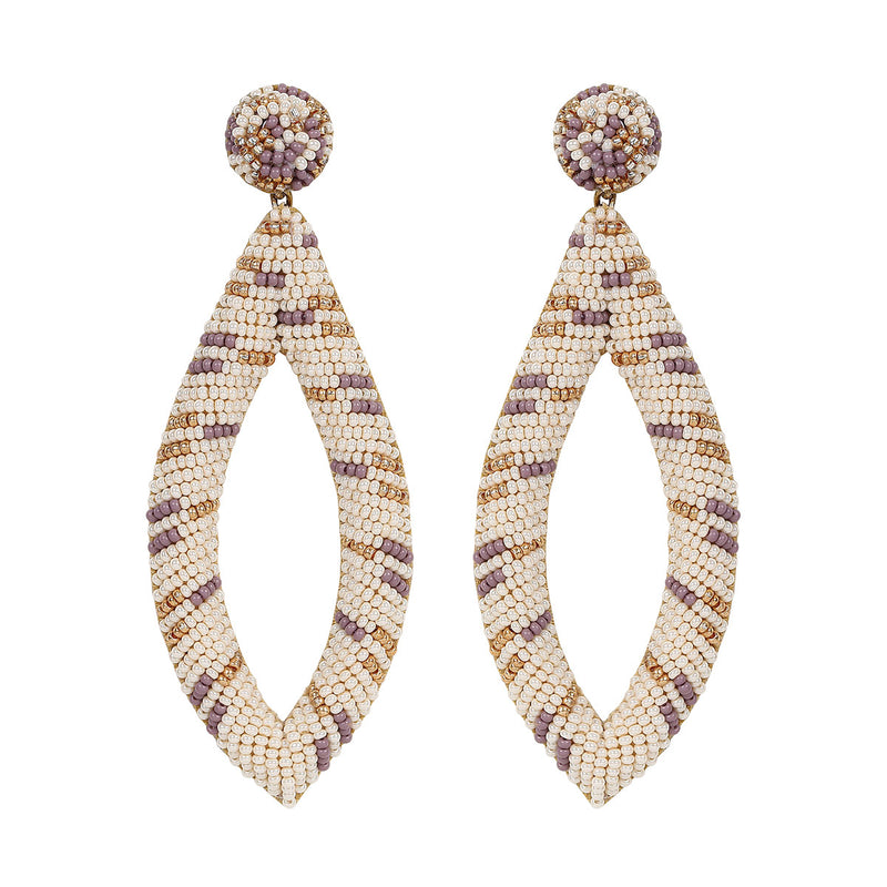 Deepa by Deepa Gurnani Handmade Jayla Earrings in Ivory