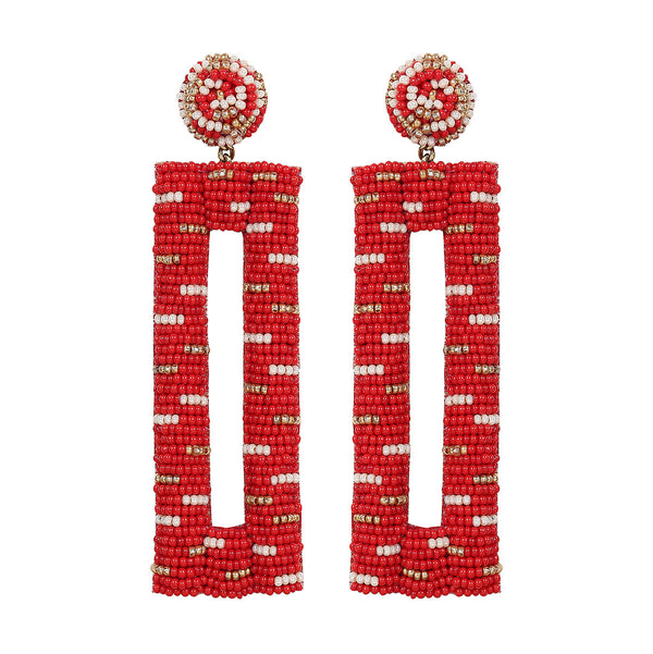 Deepa by Deepa Gurnani Handmade Mera Earrings in Red