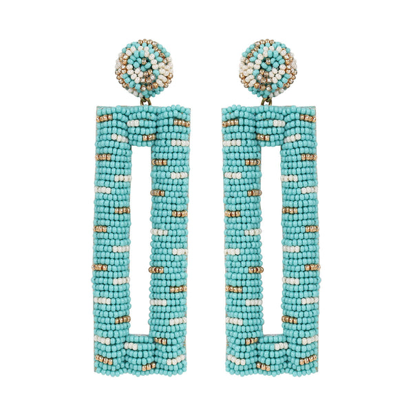 Deepa by Deepa Gurnani Handmade Mera Earrings in Mint
