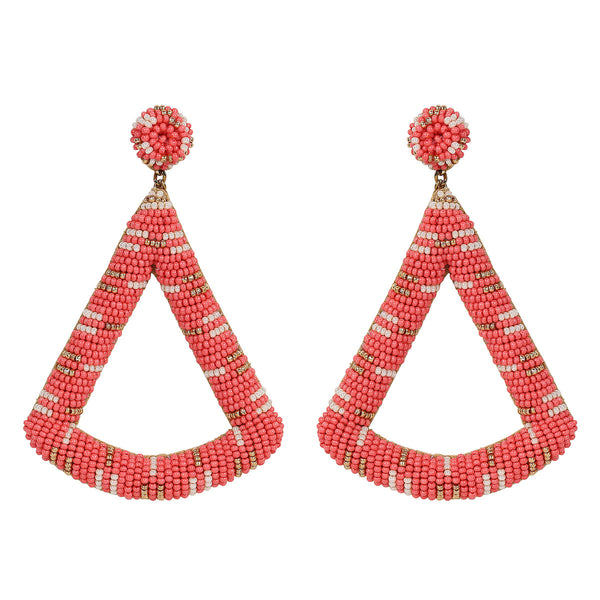 Deepa by Deepa Gurnani Handmade Ensley Earrings in Coral