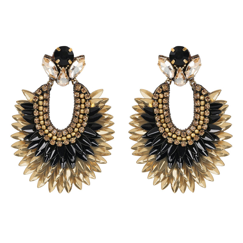 Deepa Gurnani Handmade Darcy Earrings in Black