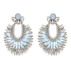 Deepa by Deepa Gurnani Handmade Darcy Earrings in Baby Blue