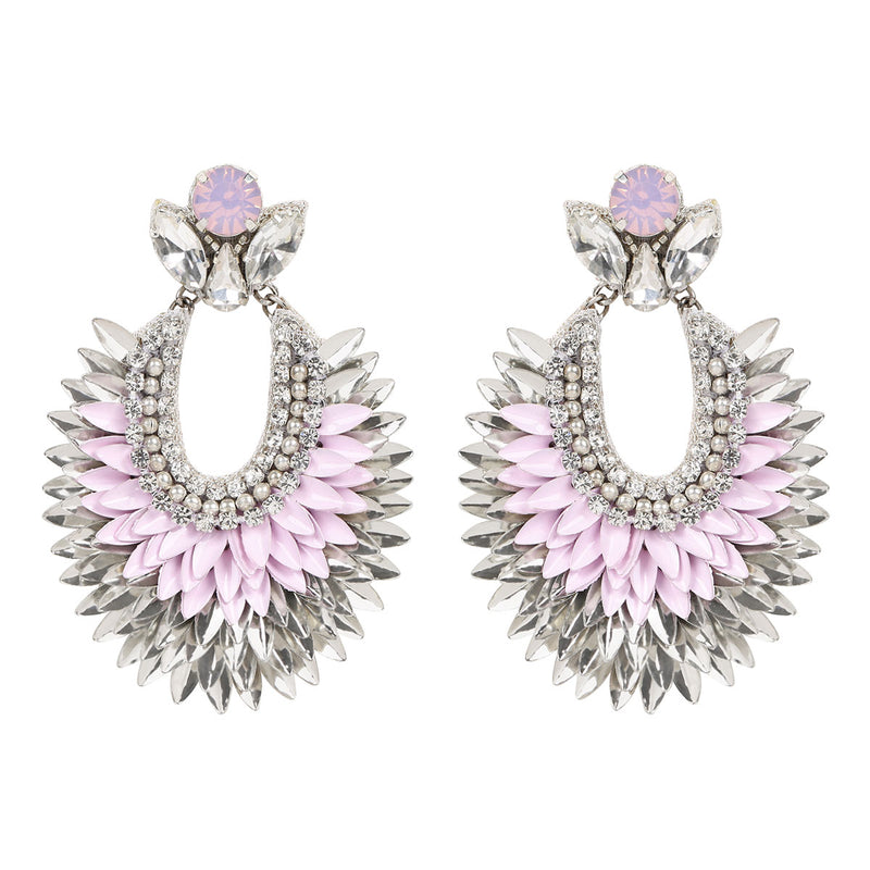 Deepa by Deepa Gurnani Handmade Darcy Earrings in Lavender