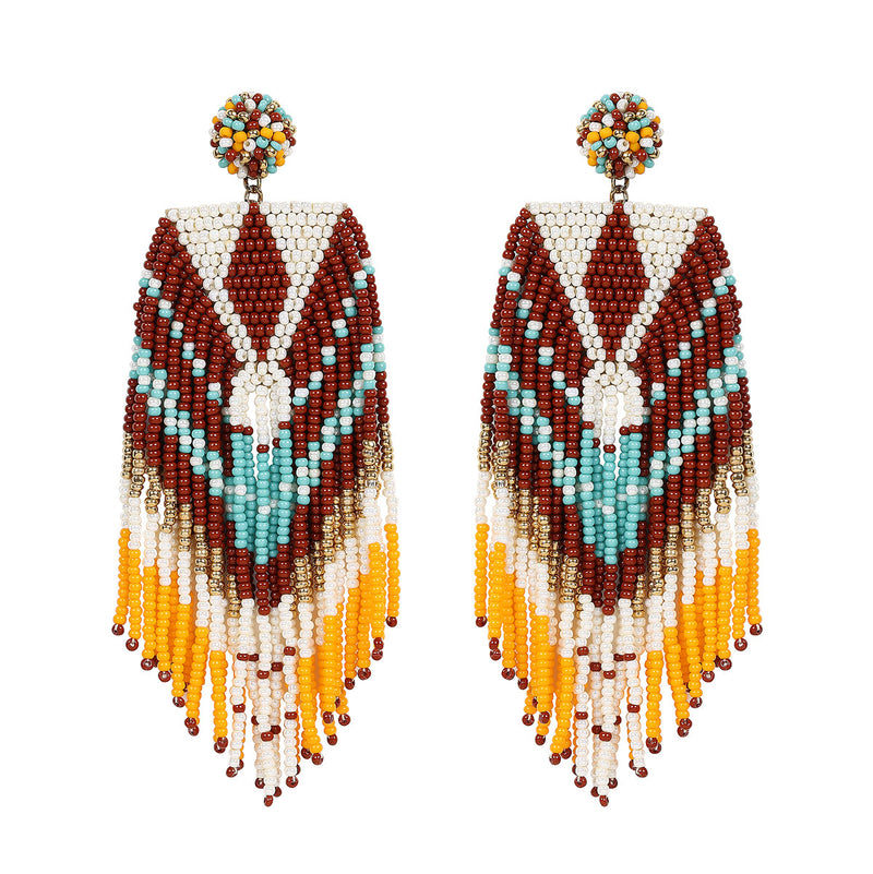 Deepa by Deepa Gurnani Handmade Brown Tiegan Earrings