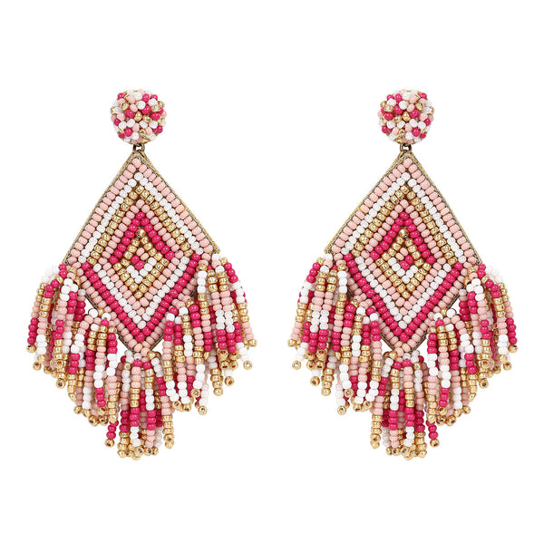 Deepa by Deepa Gurnani Handmade Dottie Earrings in Dusty Pink