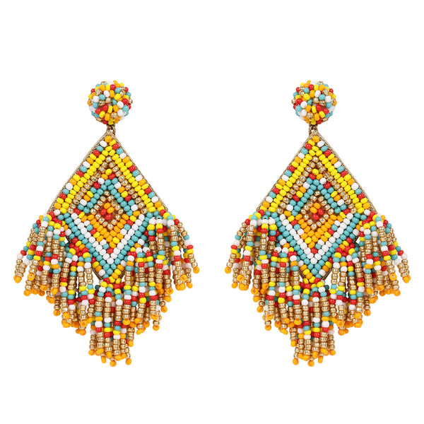 Deepa by Deepa Gurnani Handmade Dottie Earrings in Yellow
