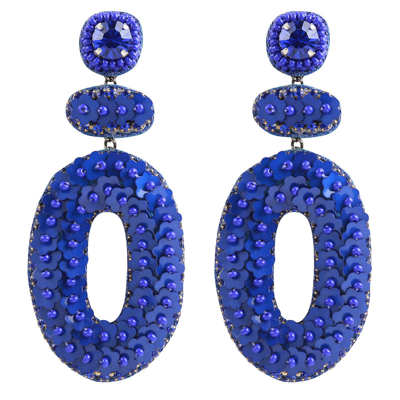 Deepa by Deepa Gurnani Handmade Britt Earrings in Cobalt